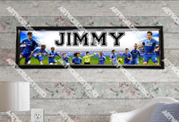 Personalized/Customized Chelsea F.C. Poster, Border Mat and Frame Options Banner 463