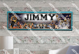 Personalized/Customized San Antonio Spurs Poster, Border Mat and Frame Options Banner 469
