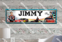 Personalized/Customized Jeff Gordon Poster, Border Mat and Frame Options Banner 472