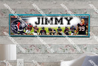 Personalized/Customized Houston Texans Poster, Border Mat and Frame Options Banner 473