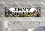 Personalized/Customized Houston Texans #2 Poster, Border Mat and Frame Options Banner 473-2