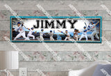 Personalized/Customized Los Angeles LA Dodgers Poster, Border Mat and Frame Options Banner 476