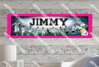 Personalized/Customized Argentina National Football Team Messi Poster, Border Mat and Frame Options Banner 477