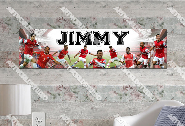 Personalized/Customized Arsenal FC Poster, Border Mat and Frame Options Banner 478