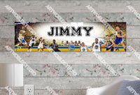 Personalized/Customized Golden State Warriors Kevin Durant #3 Poster, Border Mat and Frame Options Banner 480-3