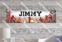Personalized/Customized Houston Rockets Poster, Border Mat and Frame Options Banner 481