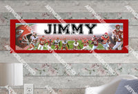 Personalized/Customized Kansas City Chiefs Poster, Border Mat and Frame Options Banner 486