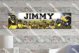 Personalized/Customized Michigan Wolverines Poster, Border Mat and Frame Options Banner 488