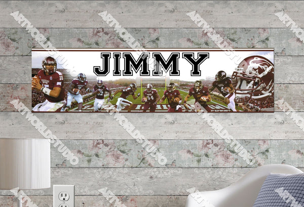 Personalized/Customized Mississippi State Bulldogs Poster, Border Mat and Frame Options Banner 489