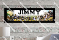 Personalized/Customized Notre Dame Fighting Irish Poster, Border Mat and Frame Options Banner 492