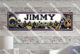 Personalized/Customized St. Louis Rams Poster, Border Mat and Frame Options Banner 496