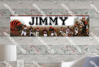 Personalized/Customized Cincinnati Bengals Poster, Border Mat and Frame Options Banner 497