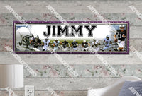 Personalized/Customized Penn State Nittany Lions Poster, Border Mat and Frame Options Banner 498