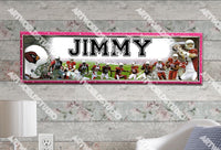 Personalized/Customized Arizona Cardinals Poster, Border Mat and Frame Options Banner 499