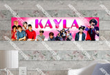 Personalized/Customized One Directions Poster, Border Mat and Frame Options Banner 520