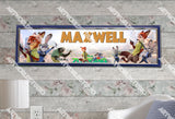 Personalized/Customized Zootopia Movie Poster, Border Mat and Frame Options Banner C10