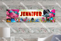 Personalized/Customized Trolls Movie Poster, Border Mat and Frame Options Banner C11