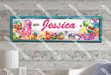 Personalized/Customized Shopkins Poster, Border Mat and Frame Options Banner C13