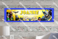 Personalized/Customized Lego Batman Movie Poster, Border Mat and Frame Options Banner C18
