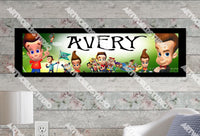 Personalized/Customized Jimmy Neutron Poster, Border Mat and Frame Options Banner C1