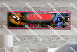 Personalized/Customized Five Nights at Freddy's Poster, Border Mat and Frame Options Banner C24