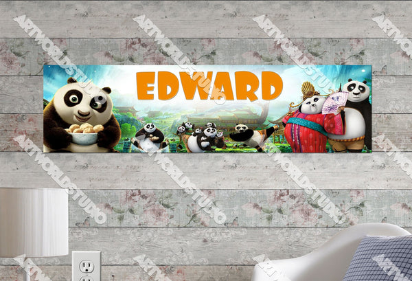 Personalized/Customized Kung Fu Panda 3 Movie Poster, Border Mat and Frame Options Banner C7