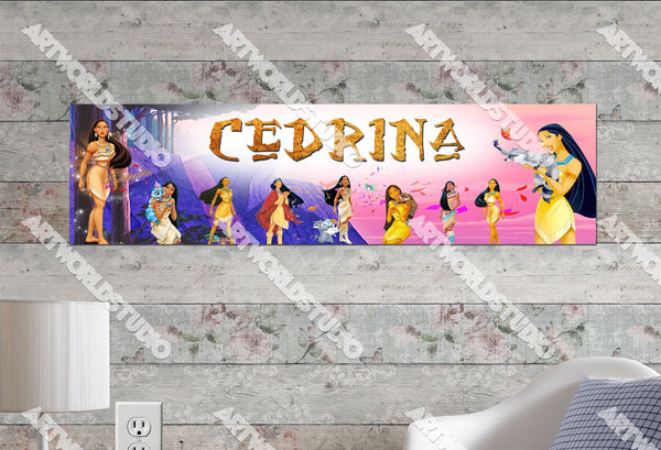 Personalized/Customized Pocahontas Movie Poster, Border Mat and Frame Options Banner C8