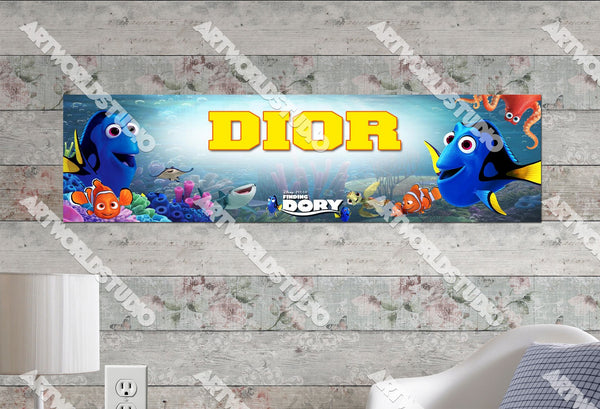 Personalized/Customized Finding Dory Poster, Border Mat and Frame Options Banner C9