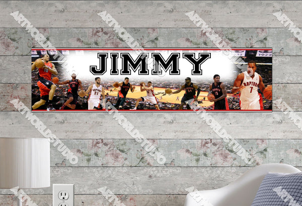 Personalized/Customized Toronto Raptors Poster, Border Mat and Frame Options Banner S4