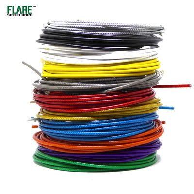 Flare PVC Speed Rope Cables