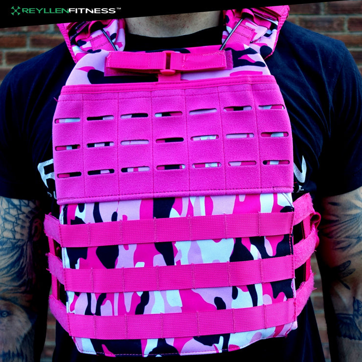 TAC-X Plate Carrier Pink Camo Size Small - Reyllen Fitness