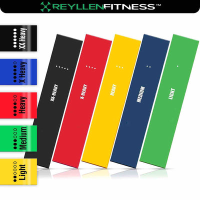 Resistance Loop Bands (Set of 5) - Reyllen Fitness