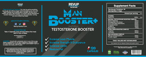 MAN BOOSTER+ - Natural Testosterone Booster