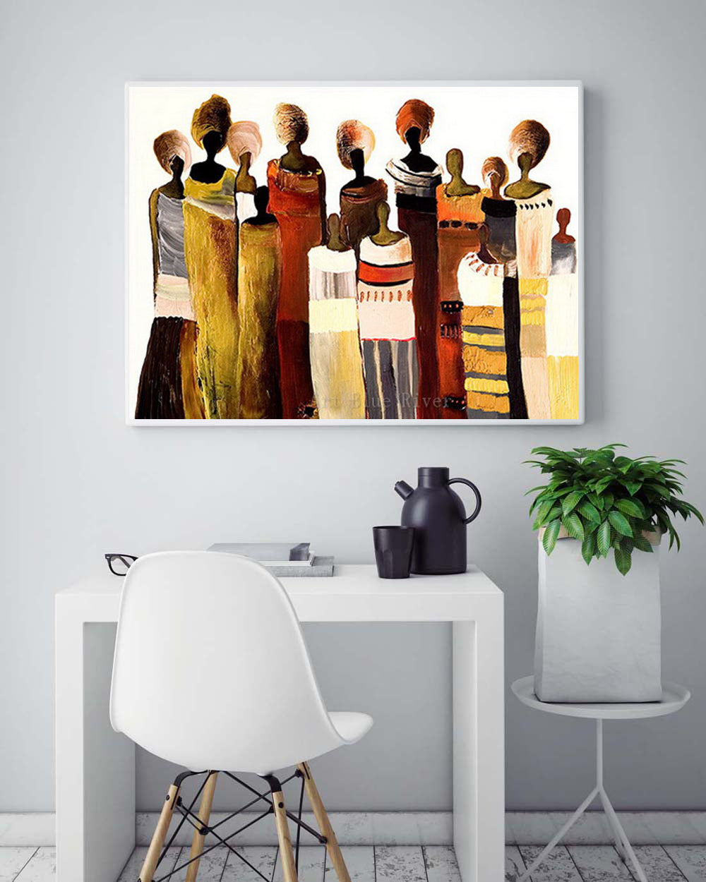 African Women Painting Wall Art Picture Abstract Art Modern Canvas