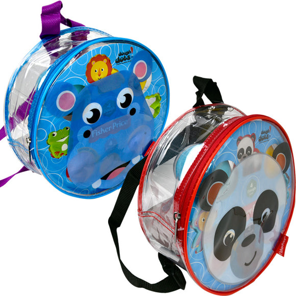 Dough Dots!™ Hippo & Panda Backpack Playset Bundle