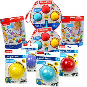 Dough Dots!™ Assorted Dough with Extruder and Cutters Bundle