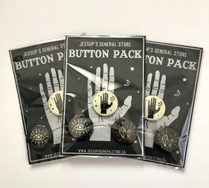 Jessup's Occult Button Pack - Set of 3