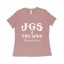 JGS & TBCWSS Home of the Occult Ladies Relaxed Fit T-shirt - Available in Black and Mauve Triblend