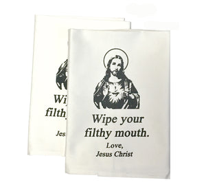 Jesus Christ Filthy Mouth Cloth Napkins (Set of Two)