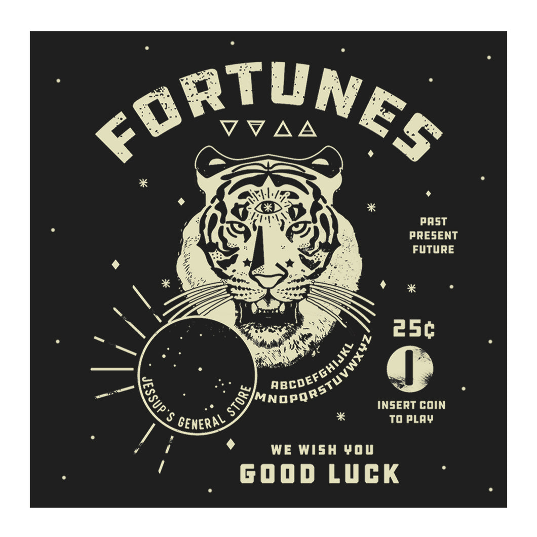 Fortunes Tiger Fortune Telling Sticker