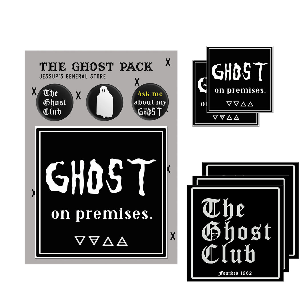 The Ghost Pack (Stickers, Buttons and Static Window Cling)