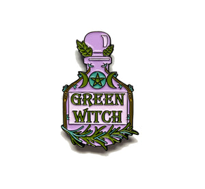 Green Witch Lapel Pin