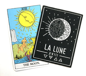 La lune Tarot Card Patch Iron on