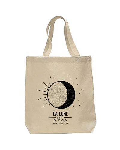 La lune canvas tote bag
