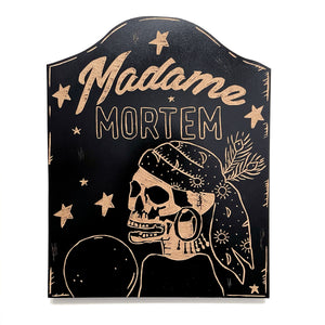 Madame Mortem Wood Art Wall Hanging