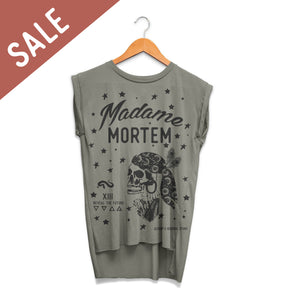 Madame Mortem - Ladies Rolled Cuff Muscle Tee