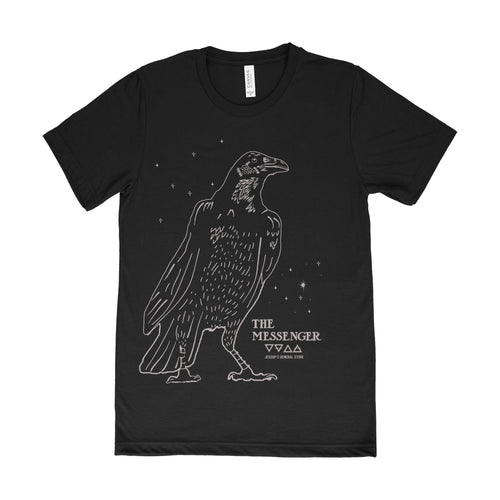 The Messenger Crow Unisex Tee Available in Black and Blue