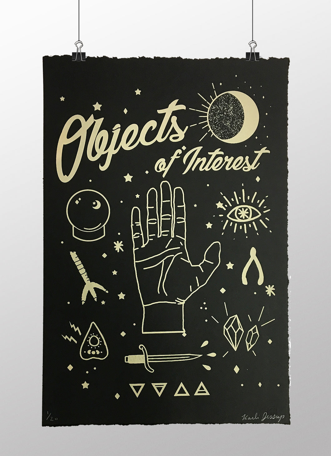 Objects of Interest - Limited edition screen print 12 x 18