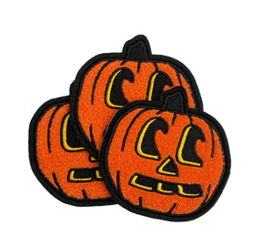 The Jack-o-lantern Pumpkin Chenille Iron-on Patch