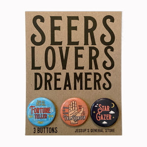 Seers Lovers Dreamers Button Pack